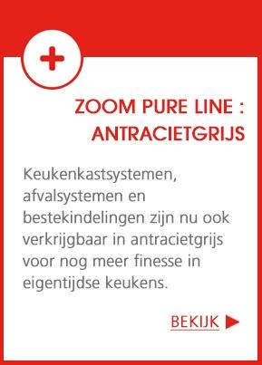 ZOOM Pure Line : het antracietgrijs verovert de keuken !