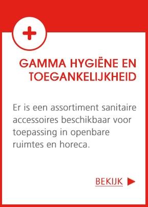 Nieuw gamma hygiëne en toegankelijkheid