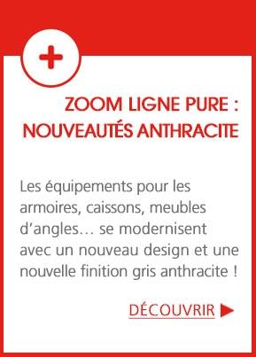 Ligne Pure - Un nouveau design et une finition gris anthracite pour les ensembles cuisine