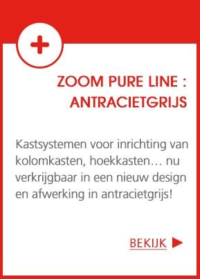 ZOOM Pure Line : een mooie selectie keukenkastsystemen in antracietgrijs