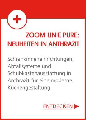 ZOOM Linie pure: Anthrazit zieht in die Küche ein!