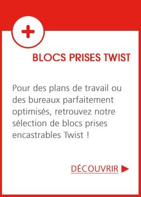 Bloc Prises Twist - Des plans de travail et des bureaux parfaitement optimisés !