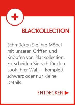 Blackollection - schmücken Sie Ihre Möbel mit unseren schwarzen Griffen und Knöpfen