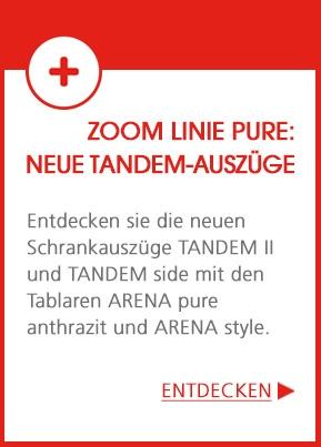 Linie pure - TANDEM: Die Lösung für individuell gestaltetem Stauraum – optimiert und einfach zugänglich