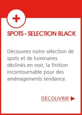 Blackollection - Une sélection de spots et luminaires déclinés en noir