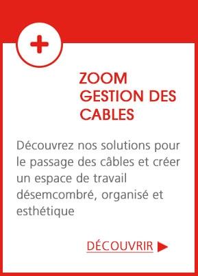 Zoom Gestion des câbles