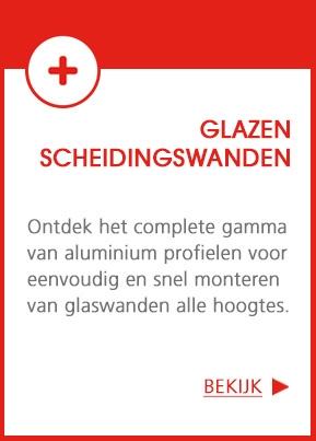 Aluminium profielen voor glazen scheidingswanden
